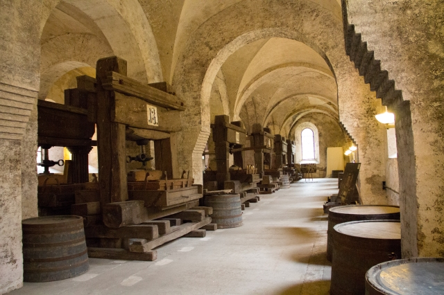 Historic Wine Press at Kloster Eberbach in the Rheingau region